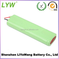 4.8v aaa 800mah ni-mh rechargeable battery pack from LYW battery