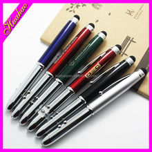 Novelty Multi-function promotional LED flashlight pen office stationary pen with highlighter