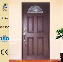 Zhejiang Afol panel door and door skin manufacturers front entry smooth or wood grain panel fiberglass door