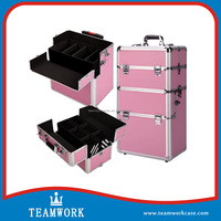 New LargeNew portable Cosmetic Beauty Makeup Carry Case in Pink