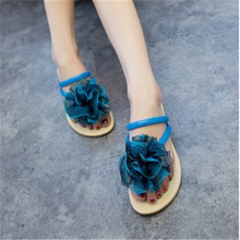HFR-TS129 2015 Summer new flowers and cool women shiny flat slippers shoes