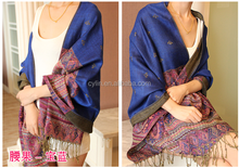 Factory OEM manufacture polyester/silk/wool jacquard/printd scarf