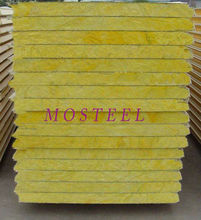 High quality MOSTEEL glass wool sandwich panel for external wall