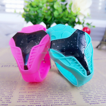 Cool silicone rubber strap men LED Japan flash watch sport cobra designer wrist led digital watch