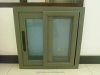 Professional Sliding Aluminum Window / Aluminium Window gray color with mosquito net