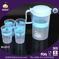 1.8 L plástico jarro de água com 4 copos / jarro de água