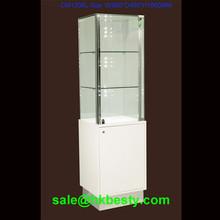 Floor standing display cabinet glass mirror for jewellery
