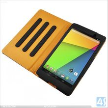 Book style wallet leather case for google nexus 7 2