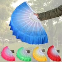 140pcs gradient color Chinese silk dance fan KungFu fan DHL Freeshipping