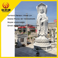cheap 3 faced large lady female buddha statue