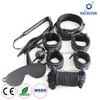 7PCS Black Leather Sex Bondages Kit with Soft Flush