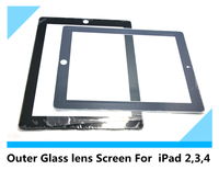 For iPad2/3/4 Outer Glass Screen With High Quality