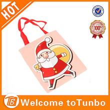 2015 xmas custom printing gift bag wholesale animated santa claus