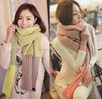 New Women Beautiful Cotton Knitted Thick Winter Scarf Tassels Detail Hollow Out Long Scarf Wrap Shawl Scarve
