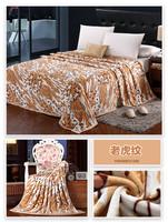 Anti-pilling sherpa blanket stock blanket factory direct fabric flannel fleece blanket