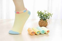 Vivid Color Knitted Wholesale Colorful Teenage Ankle Sock