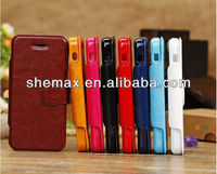 Fashion PU Leather Case With TPU Cover for Apple iPhone 5C