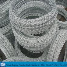 500 mm single coil diameter razor barbed wire installers