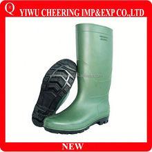Good Quality Stripe Lady Half Rubber Rain Boot, rain wellington