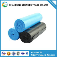 HDPE/LDPE biodegradable plastic heavy duty garbage bag in roll