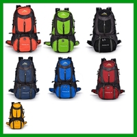 Manufacturers wholesale custom outdoor mountaineering bags, 50 liters capacity outdoor backpack camping