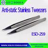 Factory ESD-259 Anti-static Stainless Tweezers,ESD Exchanged Tip Tweezer,Static Dissipative Soft Tip Tweezer
