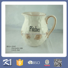 Decorative indoor seashell design pitcher flower pots