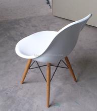Il moderno jh-174 popolare sedia di plastica/tempo libero sedia/composizione di resina sintetica e gambe in legno massello