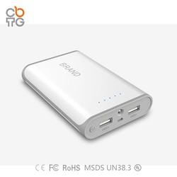 rohs power bank Portable battery charger mobile power bank 8800mah/10400mAh