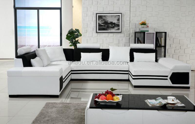 Luxe l gant canap meubles de maison meubles de salon salon canap s u fo - Canape en forme de u ...