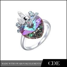 Crystals from Swarovski Fashion Value 925 Silver Ring