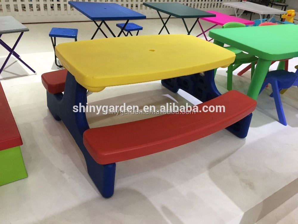 Shinyagrden 쉽게 저장 KD 큰 어린이 피크닉 테이블 우산-금속 테이블 ...