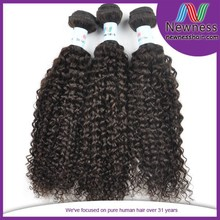 remy afro kinky curly 5a virgin brazilian weave human hair