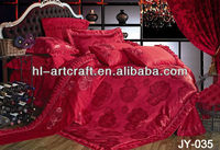 Sunshine Red Woven Quilted Mattress Cover JY-035