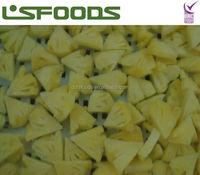 high qualit new crop IQF frozen pineapple tidbits