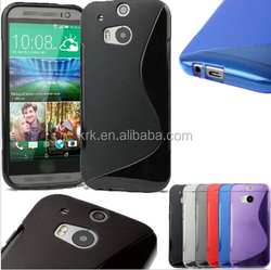 TPU Soft Silicone S Line Wave Gel phone Case Cover For HTC One 2 M8