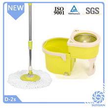 Foldable Handle Type and PP Mop Head Material 360 rotating magic mop with bucket