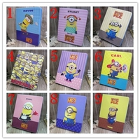 New Popular Minions Case For Apple Ipad Air Case Silions Leather New Design For Ipad Air Tablet 5 Case Cover Factory Price