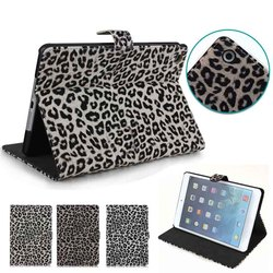 Leopard stand flip tablet cover for iPad mini 1 2 3, for ipad mini 1 2 3 cover leather