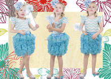 2015 latest design giggle moon remake outfits pettiskirt christmas outfits for lovely girls
