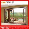 wood coating aluminum bifold door/exterior entry door/accordion door