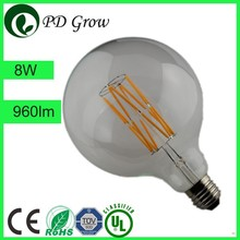 PD Lamp G80/G95/G125 LED FILAMENT GLOBE LIGTHS HALF CHROME/MIRROR DIMMABLE 6W 8W 4W E27 DECORATIVE LAMP 230V UK