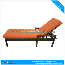 all weather hand weaving rattan chaise lounge