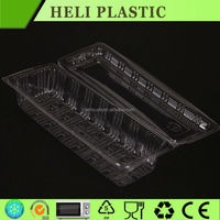 Disposable plastic biscuit/snack/dessert/cookie packaging tray