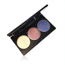 Professional makeup 3 colors eyeshadow palette, private label eyeshadow palette
