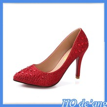 MHo-170 Spring Autumn new red bridal shoes crystal wedding shoes 9cm high heels shoes factory outlets