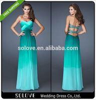 2015 Hot sale Chiffon tube prom dresses Backless