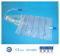 urine bag with plastic belt