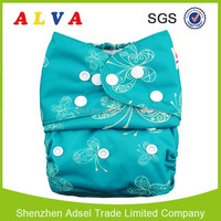 Alva baby cloth diapers nice solid color smoothly cloth diaper