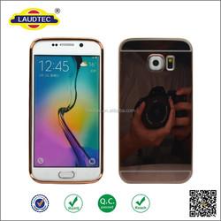 2015 Unique Cellphone Acceossires Mirror Metal Aluminum Back Cover Mobile Phone Case for Samsung Galaxy S6 Edge